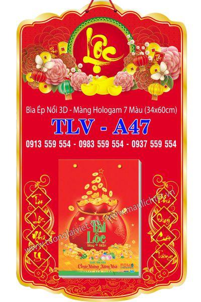 Bìa Lịch Đại 34x60 Phúc Lộc Tài